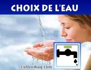 eau de bouteille ou eau de robinet pour machine à café et caffetiere brita filtre