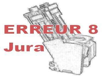 erreur 8 machine à café Jura